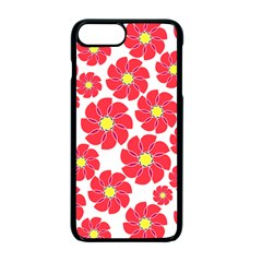 Seamless Floral Flower Red Fan Red Rose Apple Iphone 7 Plus Seamless Case (black) by Jojostore