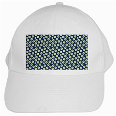 Floral Seamless Flower Blue White Cap by Jojostore