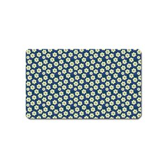 Floral Seamless Flower Blue Magnet (name Card) by Jojostore