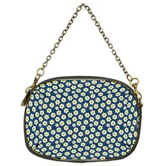 Floral Seamless Flower Blue Chain Purses (one Side)  by Jojostore