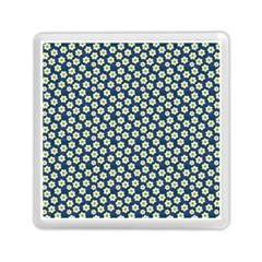 Floral Seamless Flower Blue Memory Card Reader (square)  by Jojostore