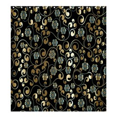 Clipart Chromatic Floral Gold Flower Shower Curtain 66  X 72  (large)  by Jojostore