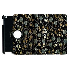 Clipart Chromatic Floral Gold Flower Apple Ipad 2 Flip 360 Case by Jojostore