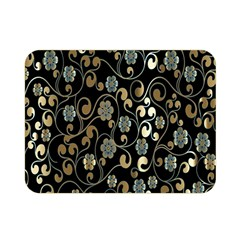 Clipart Chromatic Floral Gold Flower Double Sided Flano Blanket (mini)