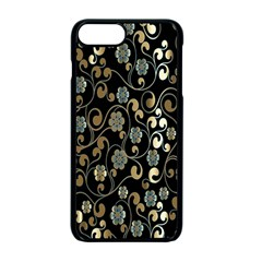 Clipart Chromatic Floral Gold Flower Apple Iphone 7 Plus Seamless Case (black) by Jojostore