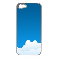 Clouds Illustration Blue Sky Apple Iphone 5 Case (silver)