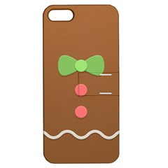 Stunning Gingerbread Brown Bread Apple Iphone 5 Hardshell Case With Stand by Jojostore