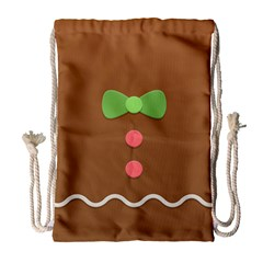 Stunning Gingerbread Brown Bread Drawstring Bag (large) by Jojostore
