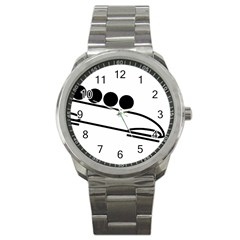 Bobsleigh Pictogram Sport Metal Watch by abbeyz71