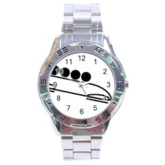 Bobsleigh Pictogram Stainless Steel Analogue Watch by abbeyz71