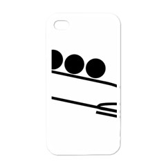 Bobsleigh Pictogram Apple Iphone 4 Case (white) by abbeyz71
