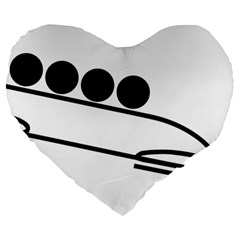 Bobsleigh Pictogram Large 19  Premium Heart Shape Cushions by abbeyz71