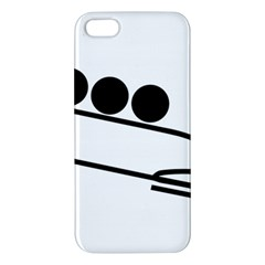 Bobsleigh Pictogram Apple Iphone 5 Premium Hardshell Case by abbeyz71