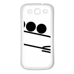 Bobsleigh Pictogram Samsung Galaxy S3 Back Case (white) by abbeyz71
