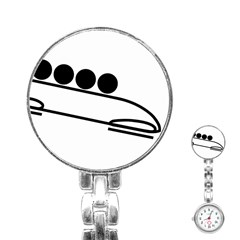 Bobsleigh Pictogram Stainless Steel Nurses Watch by abbeyz71