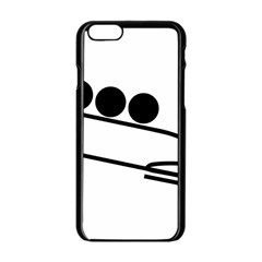Bobsleigh Pictogram Apple Iphone 6/6s Black Enamel Case by abbeyz71