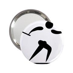 Cross Country Skiing Pictogram 2 25  Handbag Mirrors by abbeyz71