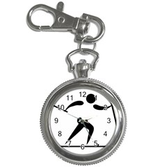 Cross Country Skiing Pictogram Key Chain Watches by abbeyz71