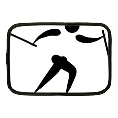 Cross Country Skiing Pictogram Netbook Case (medium)  by abbeyz71