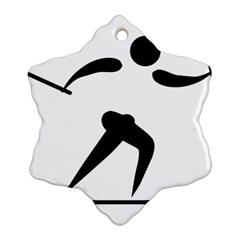 Cross Country Skiing Pictogram Snowflake Ornament (two Sides) by abbeyz71