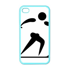 Cross Country Skiing Pictogram Apple Iphone 4 Case (color) by abbeyz71