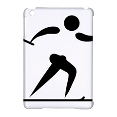 Cross Country Skiing Pictogram Apple Ipad Mini Hardshell Case (compatible With Smart Cover) by abbeyz71