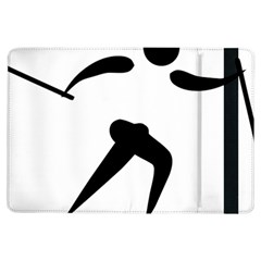 Cross Country Skiing Pictogram Ipad Air Flip by abbeyz71