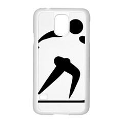 Cross Country Skiing Pictogram Samsung Galaxy S5 Case (white) by abbeyz71