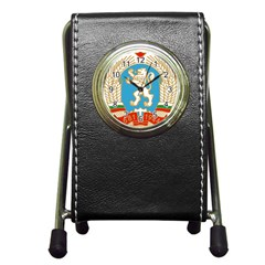 Coat Of Arms Of Bulgaria (1971 1990) Pen Holder Desk Clocks by abbeyz71
