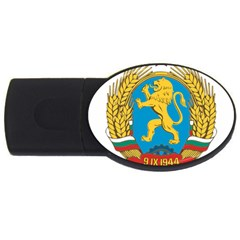 Coat Of Arms Of Bulgaria (1948-1968) Usb Flash Drive Oval (2 Gb) by abbeyz71