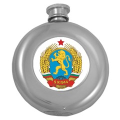 Coat Of Arms Of Bulgaria (1948-1968) Round Hip Flask (5 Oz) by abbeyz71