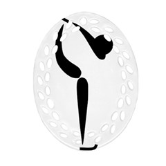 Figure Skating Pictogram Ornament (oval Filigree) by abbeyz71