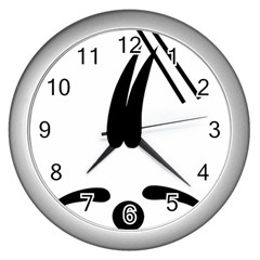 Freestyle Skiing Pictogram Wall Clocks (silver)  by abbeyz71