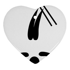 Freestyle Skiing Pictogram Heart Ornament (two Sides) by abbeyz71