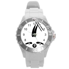 Freestyle Skiing Pictogram Round Plastic Sport Watch (l) by abbeyz71