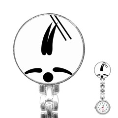 Freestyle Skiing Pictogram Stainless Steel Nurses Watch by abbeyz71
