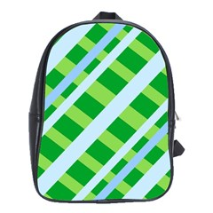 Fabric Cotton Geometric Diagonal School Bags (xl)  by Nexatart