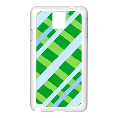 Fabric Cotton Geometric Diagonal Samsung Galaxy Note 3 N9005 Case (white) by Nexatart