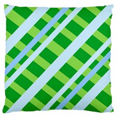 Fabric Cotton Geometric Diagonal Large Flano Cushion Case (two Sides)