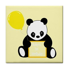 First Birthday Panda Card Tile Coasters