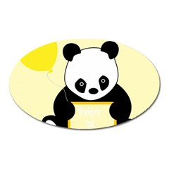 First Birthday Panda Card Oval Magnet