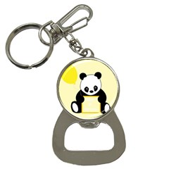 First Birthday Panda Card Button Necklaces by Nexatart