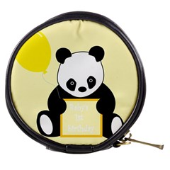 First Birthday Panda Card Mini Makeup Bags