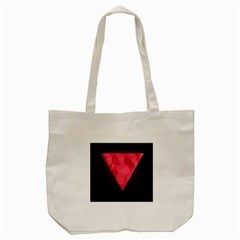 Geometric Triangle Pink Tote Bag (cream)