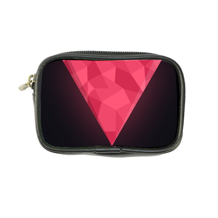Geometric Triangle Pink Coin Purse