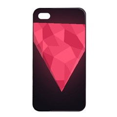 Geometric Triangle Pink Apple Iphone 4/4s Seamless Case (black) by Nexatart