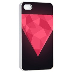 Geometric Triangle Pink Apple Iphone 4/4s Seamless Case (white) by Nexatart