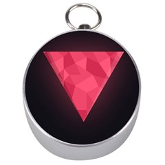 Geometric Triangle Pink Silver Compasses by Nexatart