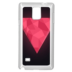Geometric Triangle Pink Samsung Galaxy Note 4 Case (white) by Nexatart