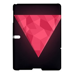 Geometric Triangle Pink Samsung Galaxy Tab S (10 5 ) Hardshell Case  by Nexatart